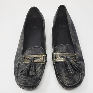 NEW 《Stuart Weitzman》Patent Leather Loafers Sz 7.5